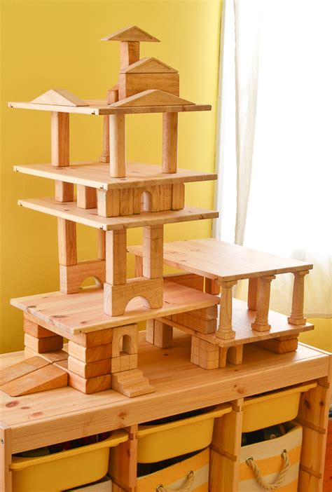 building doll houses build doll houses garages and towers with wooden blocks