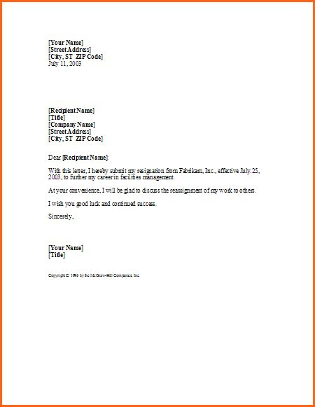 resignation letter templates okl mindsprout co