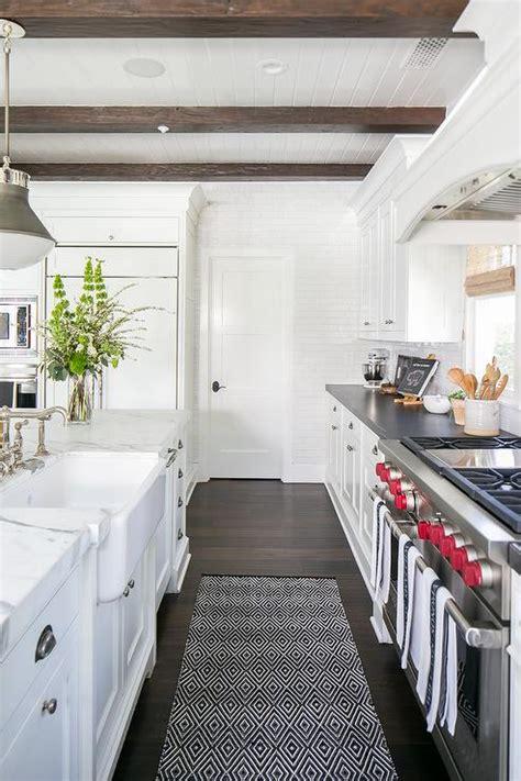 Grey And White Kitchen Rugs Black And White Pattern Kitchen Runner Transitional Kitchen