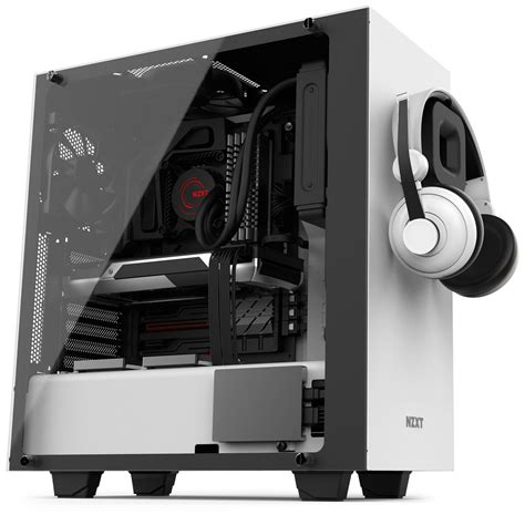 Nzxt Hue Black White By Aconx nzxt s340 elite white tempered glass