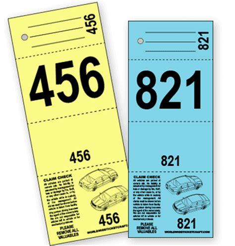 printable valet tickets buy 4 part valet parking ticket b