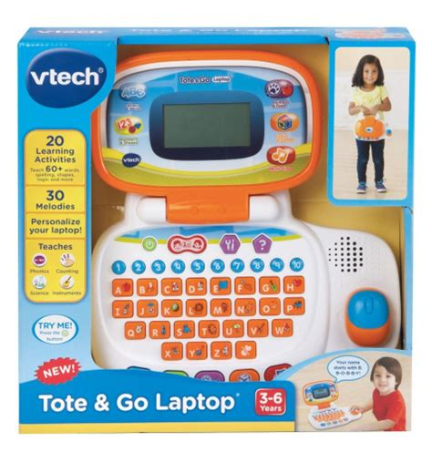 Vtech Learn N Grow Laptop vtech 3 to 6 years tote and go laptop orange