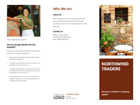 tri fold powerpoint template brochures office template