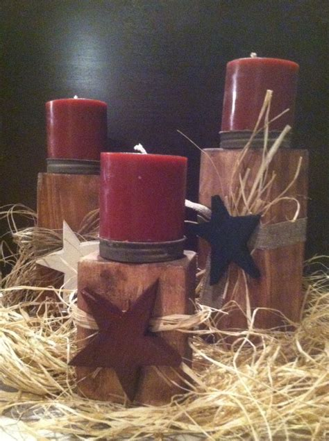 Hometalk   Wooden Candle Holders
