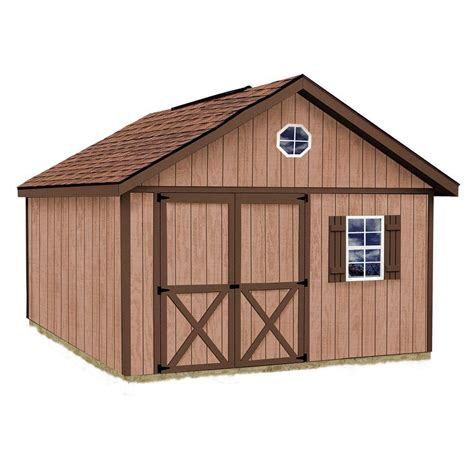 diy shed kit home depot best barns brandon 12 ft x 16 ft wood storage shed kit