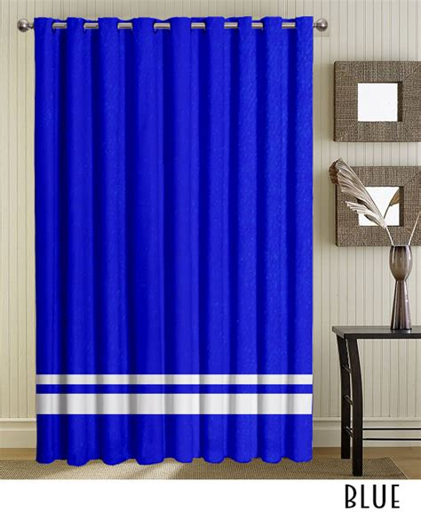 Blue Grommet Curtains White Blue Grommet Curtains