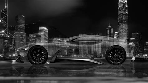 vision wallpaper black and white 4k infiniti vision gran turismo concept side crystal city