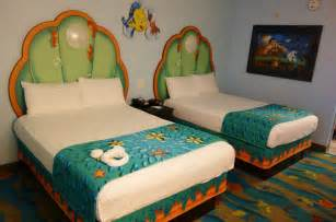 Bed Sizes At Of Animation Photo Tour Of Standard Mermaid Rooms At Disney S