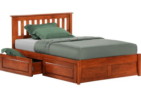 rosemary platform captains storage bed frame cherry the