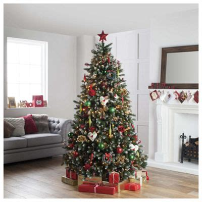 buy festive 7ft snow tipped fraser fir christmas tree from