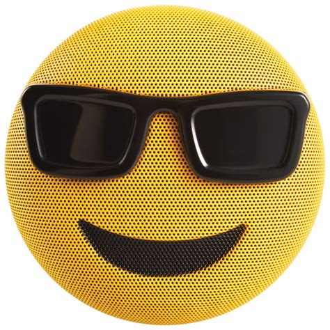 cool speakers jam jamoji emoji too cool bluetooth wireless speaker yellow black portable bluetooth