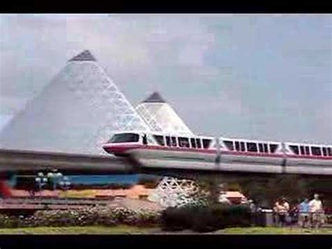 the walt disney world monorail system over epcot youtube