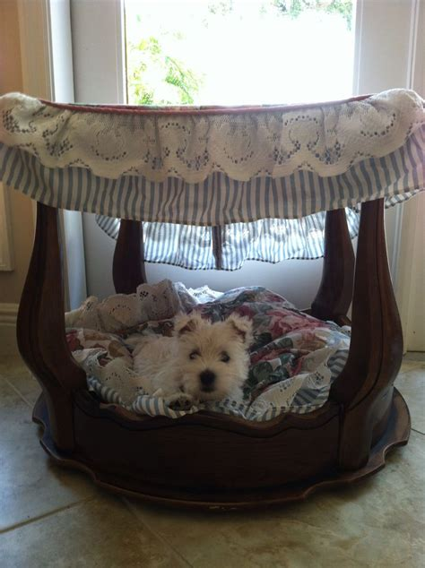 dog bed with canopy dog canopy bed made from an end table dog beds