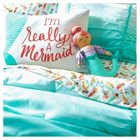mermaid bedding mermaids sheet set pillowfort target