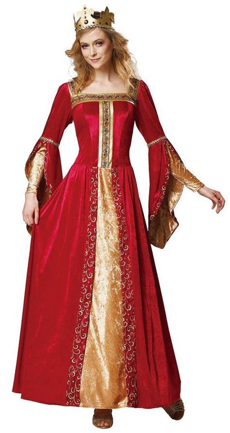 Renaissance Queen Costume Red Deluxe