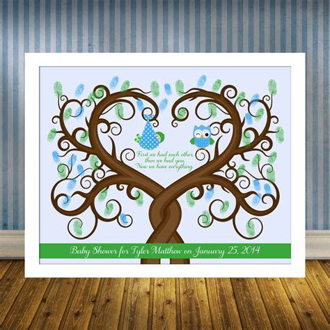 Alternative Baby Shower by Baby Shower Guest Book Alternative Baby Shower Thumbprint