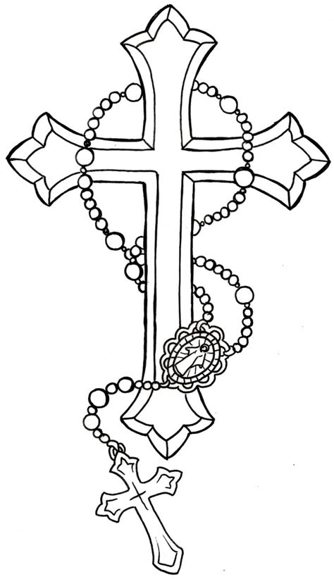 rosary neck tattoo designs terrific rosary tattoos around neck thecolorbars