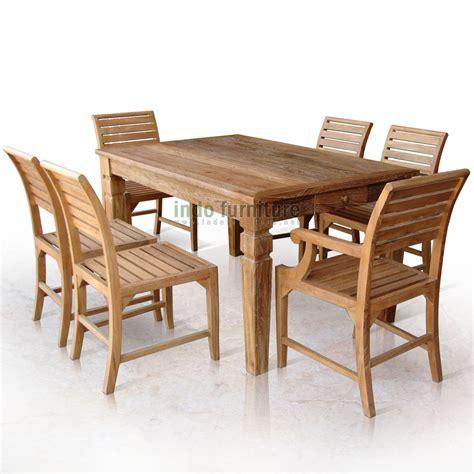Meja Jati Tua set meja makan jati rustic 6 kursi indofurniture