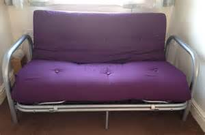 futon sofa bed with purple mattress ebay