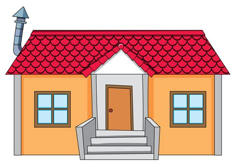 simple house  white background   vectors