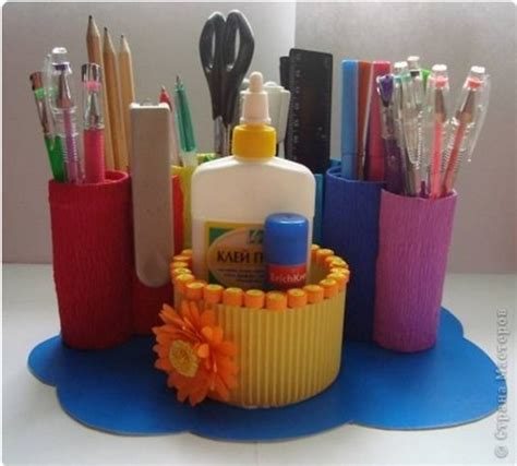 Diy Rainbow Desk Organizer From Toilet Paper Rolls The Toilet Desk Organizer
