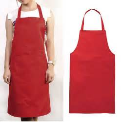 Kitchen Aprons Solid Color Poly Craft Commercial Restaurant Kitchen Bib