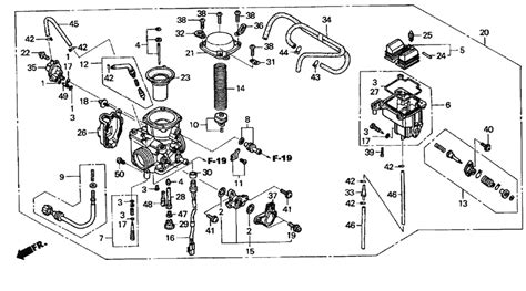 honda foreman carburetor diagram 2004 honda foreman carburetor diagram wiring diagram
