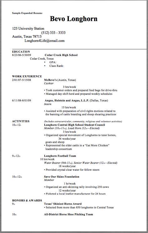 Sle Expanded Resume Sle Expanded Resume Bevo Longhorn 123 University Station Free Ut Resume Template