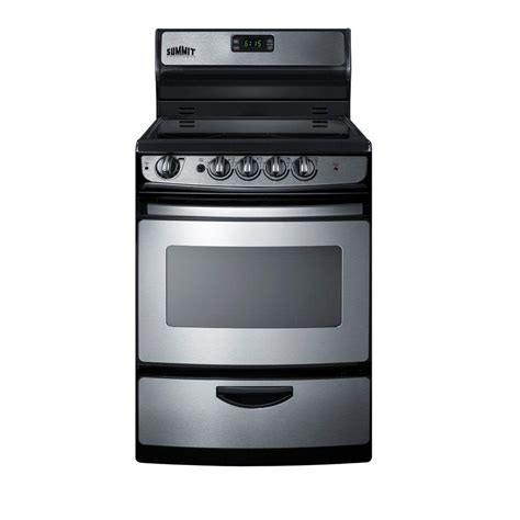 summit appliance 24 in 3 cu ft electric range in