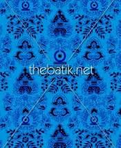 Kain Batik Cap Garutan Biru Tua pesan kain motif sendiri design seragam batik custom 3 warna biru muda biru tua hitam
