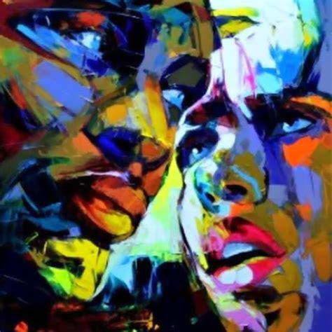 imagenes rostros abstractos cuadros modernos pinturas y dibujos rostros con pintura