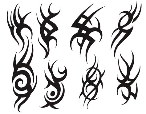 tribal tattoo outline popular design tattoos brilliant tribal symbols tattoos