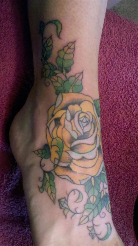 green rose tattoos collection of 25 and green leaves on arm