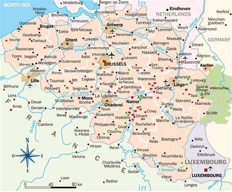 belgium map of cities carte de belgique arts et voyages
