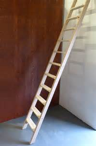 Straight wood ladder fixed loft ladders loft ladders amp attic ladders