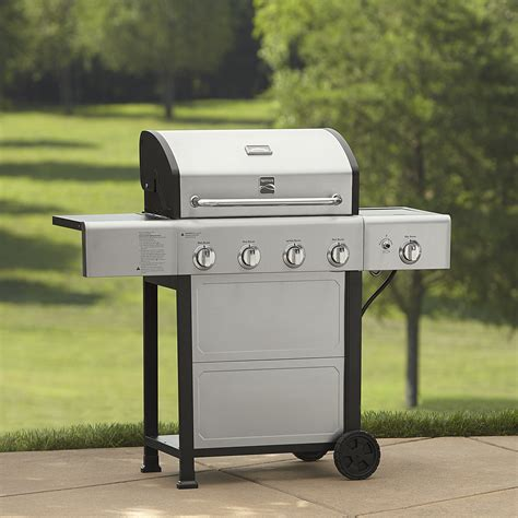 kenmore 4 burner stainless steel kenmore pg 40401sol 4 burner gas grill with stainless