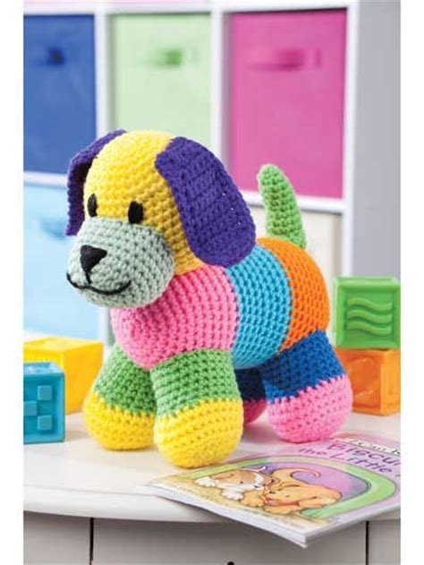 Patchwork Stuffed Animal Patterns - patchwork puppy crochet pattern from e