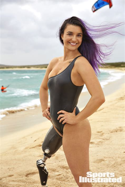 brenna huckaby latest photos celebmafia brenna huckaby the first amputee featured in si s