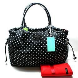 kate spade stevie baby bag spot black bag