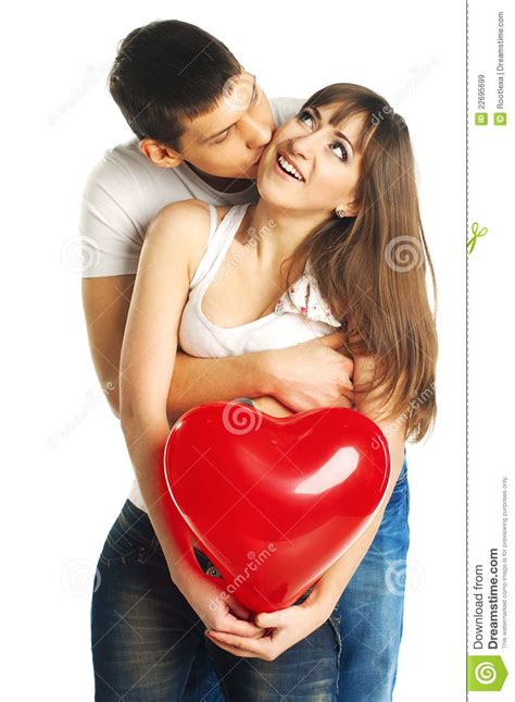 golden couple have big hearts the couple with a big heart royalty free stock images