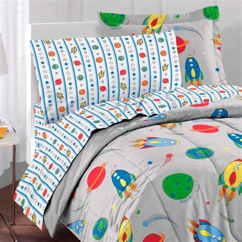 rocket ship bedding rocket ship twin bed in bag 5pc outer space comforter set twin bed