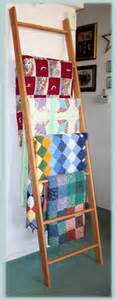 How To Make A Ladder Quilt Rack by Diy Free Ladder Quilt Rack Plans Plans Free