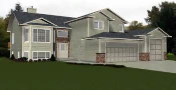 bi level house plans with garage edesignsplans ca 4