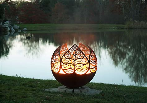 metal fire pit designs  outdoor setting ideas