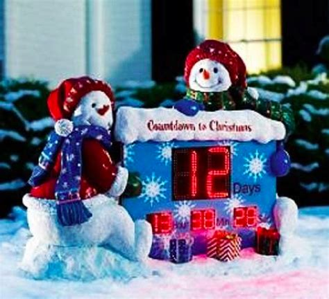 christmas countdown clock yard decoration images top