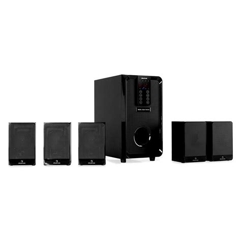 new auna 5 1 channel 100w speaker set surround sound home