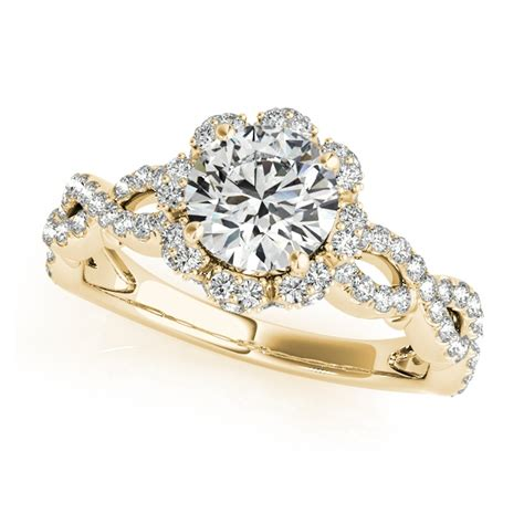 Yellow Gold Halo Engagement Rings Brilliant And by Gold Engagement Rings And Italian Engagement Rings