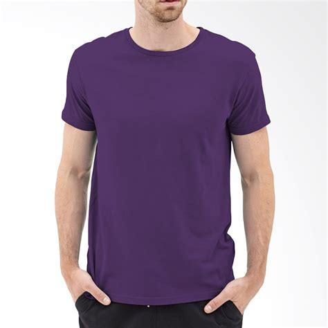 T Shirt Baju Kaos Pria Lengan Pendek Hyundai jual kaosyes kaos t shirt polos o neck lengan pendek ungu tua harga kualitas