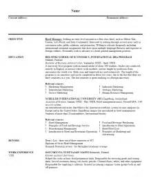 hotel manager resume sle resume writing service