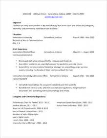 College Grad Resume Examples College Grads How Your Resume Should Look Fastweb